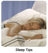 Click here for sleep tips to get a terrific night's sleep.
