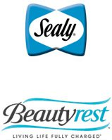 Simmons and Sealy brand logos